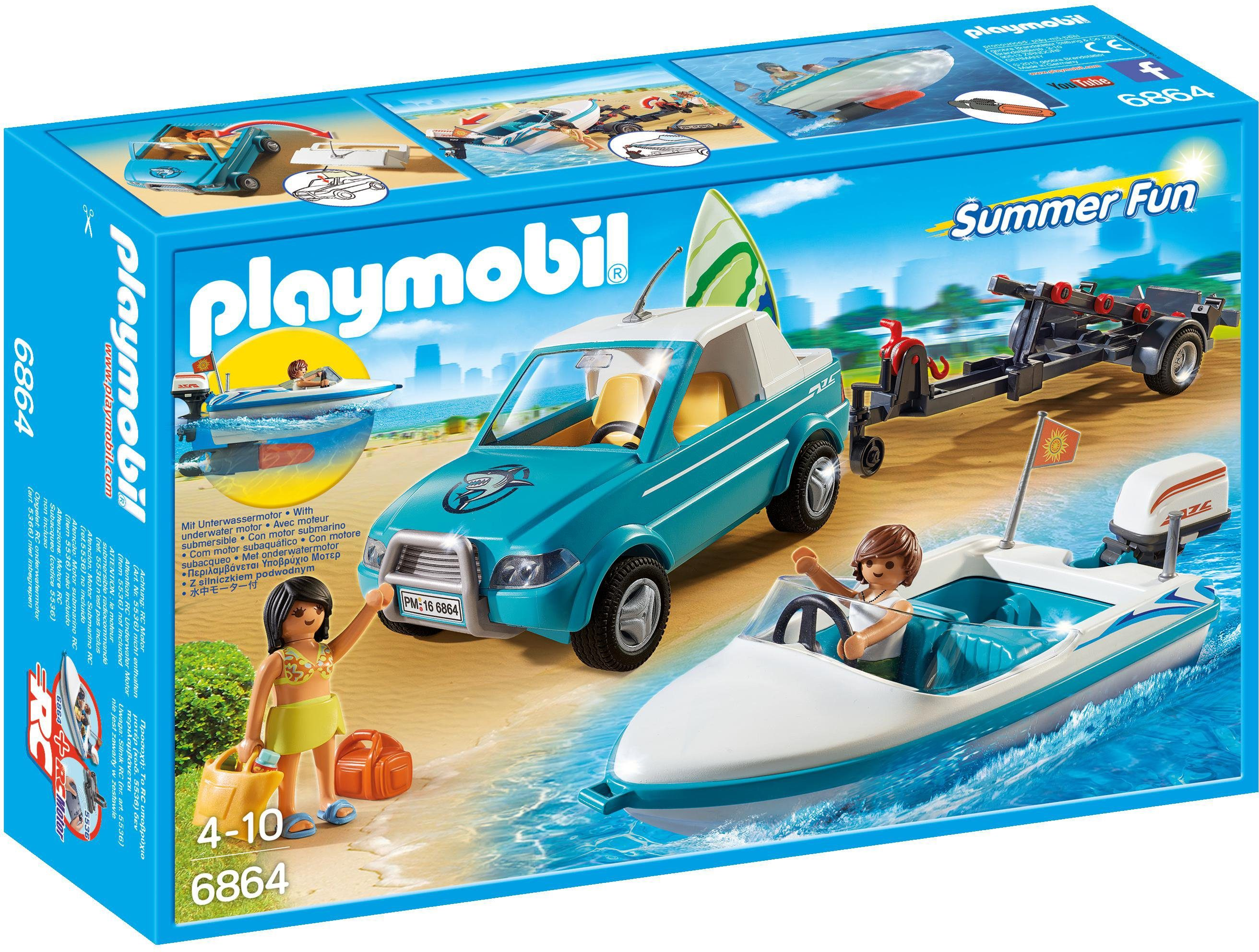Playmobil® Surfer-Pickup mit Speedboat (6864), »Summer Fun«